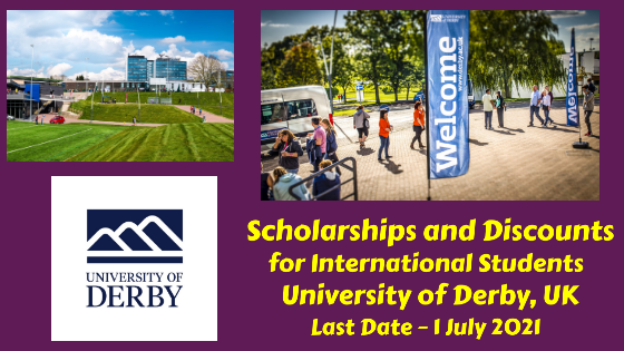 Scholarships and Discounts for International Students at University of Derby, UK