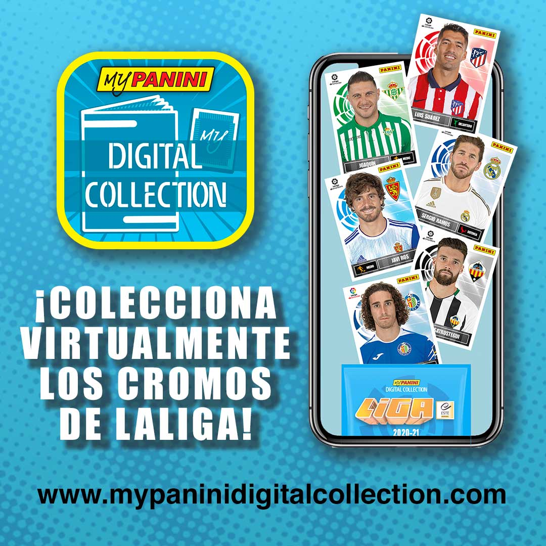🔝⚽ ¡Colecciona a los cracks de #LaLigaSantander y #LaLigaSmartBank con los cromos digitales de @paninicromos!  📲 Descarga ya la app: