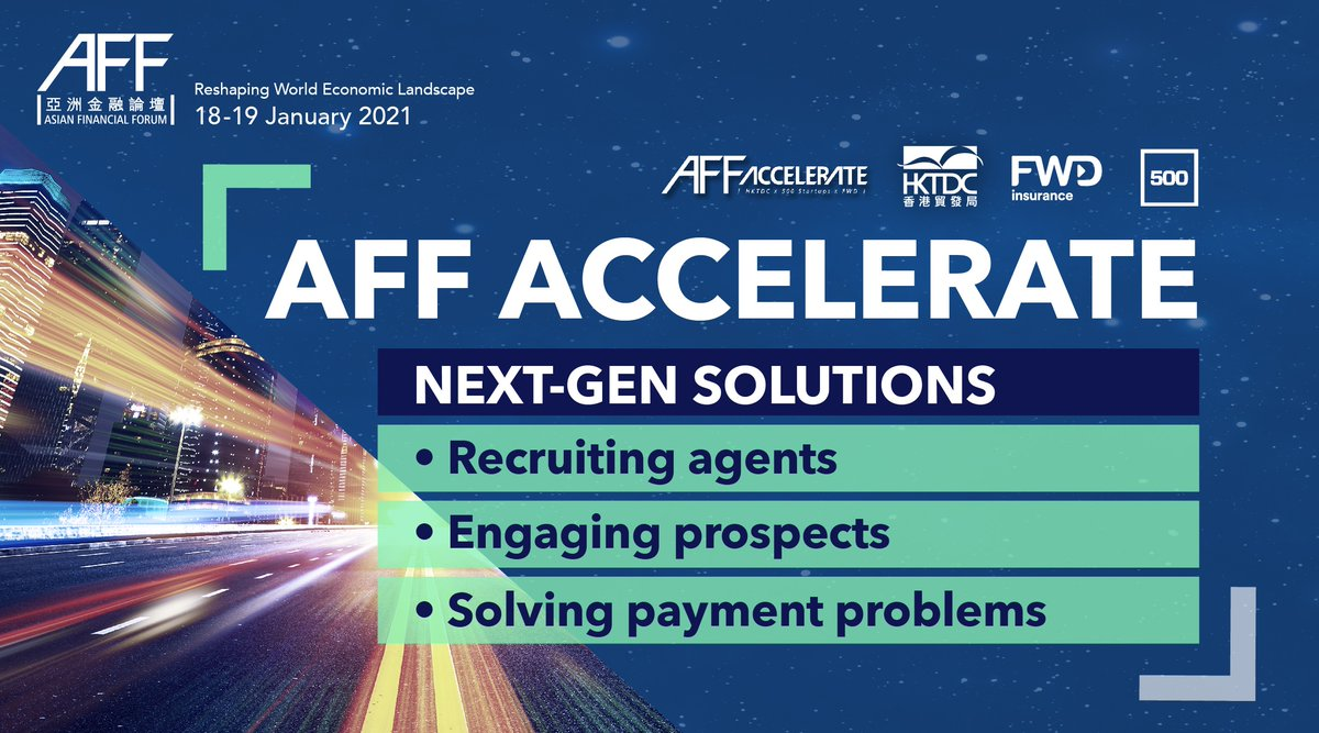 #Insurtech start-ups worldwide will bring their cutting-edge ideas to the inaugural #AFF Accelerate, helping insurers build resilience by turning their ideas into reality.  Join us at #AFF 2021 online to explore next-gen solutions for today and tomorrow: https://t.co/Yaz7hy4uLz https://t.co/fHSvv6dSTs