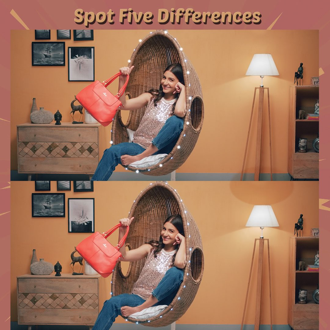 How many differences can you spot? 🧐 Comment it with emojis & one of you will get lucky!  T&C Apply!  - Follow @LavieWorld on Instagram - Comment your answer with emojis - Tag 3 friends x #spotthedifference #contestalert #giveawaycontest #giveawayindia #fashionalert