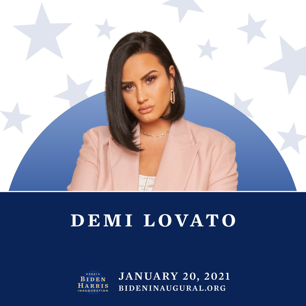 "I'm SO honored to announce that I will be joining @JoeBiden & @KamalaHarris for their special event, ""Celebrating America"" on January 20th at 8:30pm ET/PT ❤️🤍💙 I was left speechless when I was asked to perform! Tune in with various tv networks & live streaming services 🇺🇸 https://t.co/YiYmQ43M51"