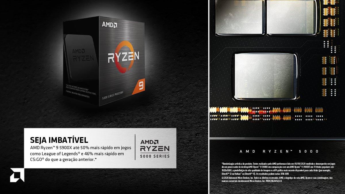 #DicadaAMD: Jogue o seu melhor jogo com a velocidade excepcional dos processadores AMD Ryzen™ Série 5000! Com #AMD fica fácil ser imbatível 😎👊🏼 https://t.co/539kHri3IW