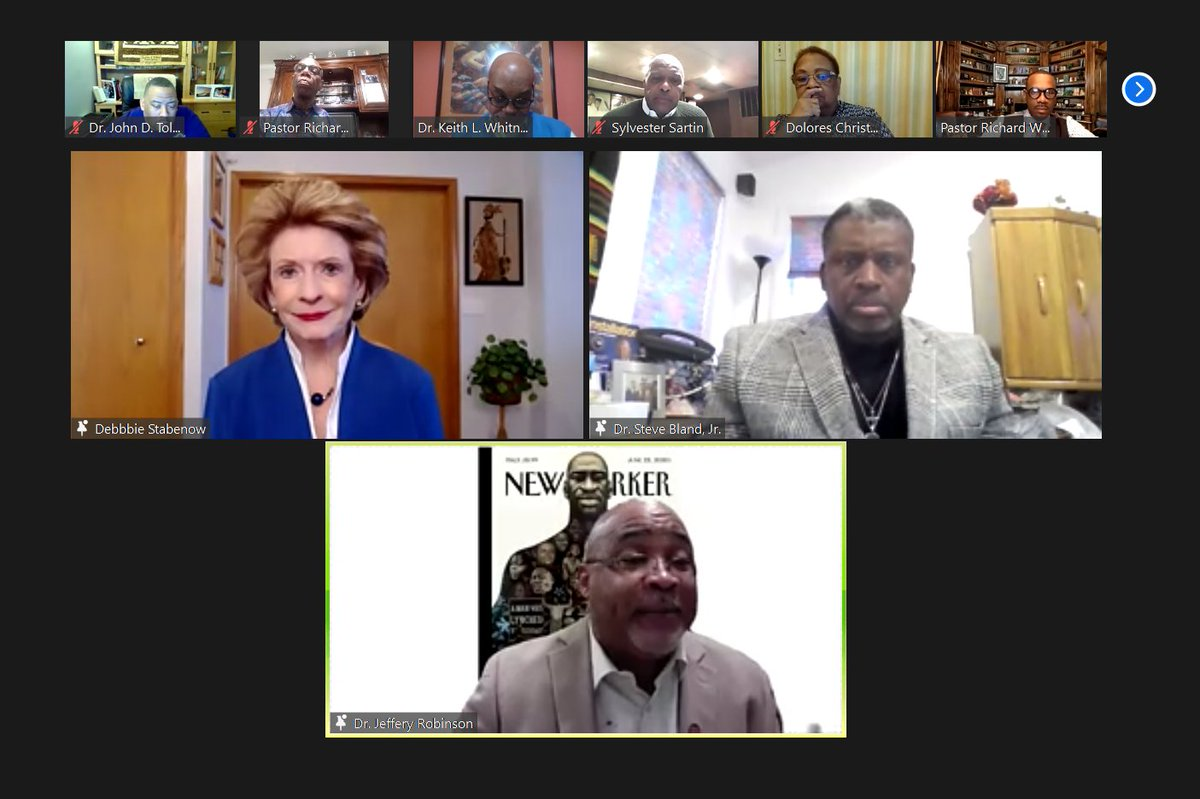 I'm so grateful for the work of the Council of Baptist Pastors of Detroit and Vicinity, especially during the COVID-19 crisis. It's always wonderful to have a discussion with my friends about the urgent needs of people in our communities. I am proud to be your partner.