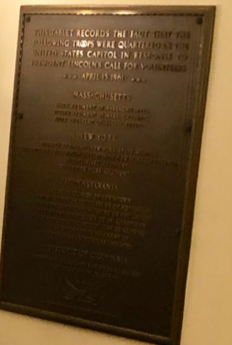 @erinschaff @JennaMC_Laugh Incidentally, the plaque on the wall commemorates Union troops that were quartered there to defend against the last insurrection. The more things change, etc... https://t.co/UCxSEOqunx