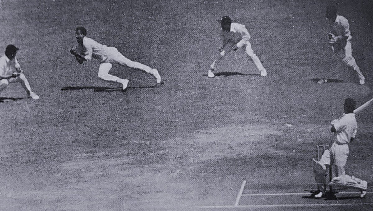 @ovshake42 This was the brilliant catch taken by Sobers. Photo shared by @RSingh6969a
