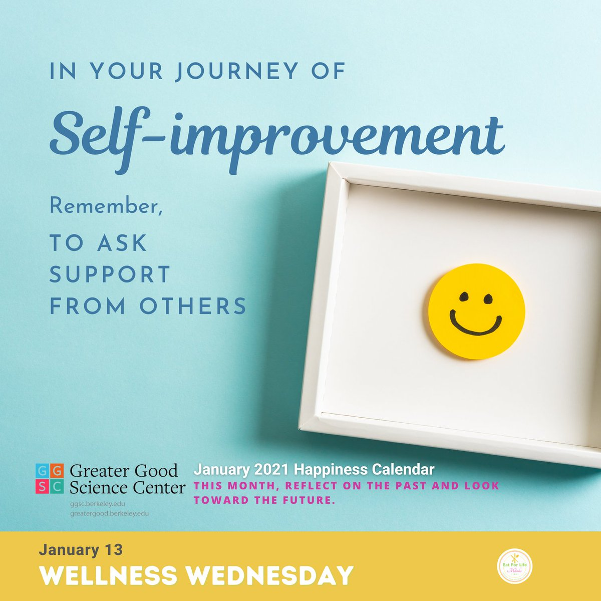 Happy Wellness Wednesday! 😊 And 3 days before my #birthday 🎂😁  On this #wellnesswednesday my #wellbeing #inspiration came from the Greater Good Science Center @GreaterGoodSC  Enjoy this #wednesday being #well with #yourself #selfcare  #meditation #mindfulness #selflove