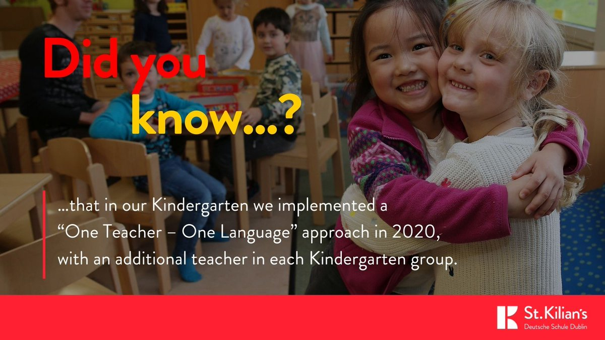 "test Twitter Media - Here is this week's interesting fact about our school:  Did you know?...   …that in our Kindergarten we implemented a ""One Teacher – One Language"" approach; of the two teachers in a group, one will only communicate in German, one only in English https://t.co/zKkrT76xGu https://t.co/KcDUzllCxM"