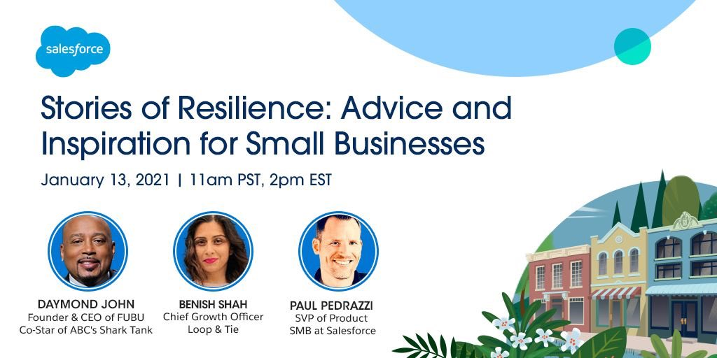 Today at 2pm est I'll be joining Salesforce @essentials for #StoriesOfResilience with Chief Growth Officer of @loopandtie, @Benishshah, to answer all your questions live. Register and tune in!