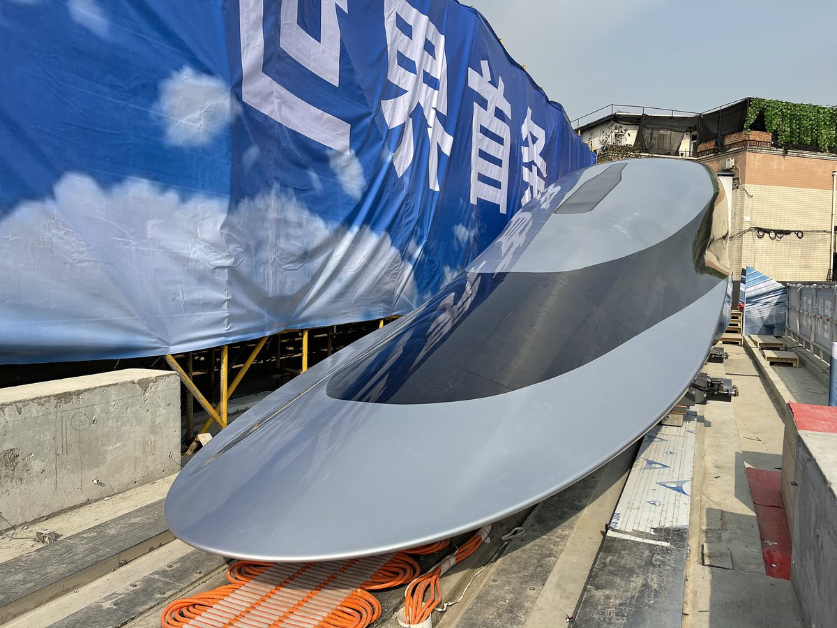 #MostWatched World's first high-temperature superconducting high-speed maglev engineering prototype and its test line, with a speed of 620 kilometers per hour, was launched on Wednesday in Chengdu City, southwest #China's Sichuan Province.