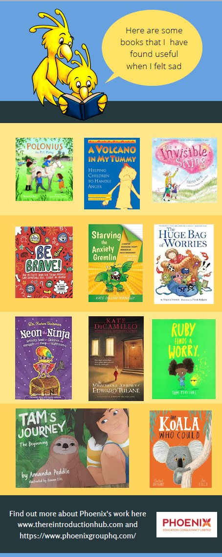 I am often asked about what books I recommend, here is some ideas to start off! What books would you add to this list!? Thank you to all those that contributed this through #KidsCovidMH yesterday. Feel free to share this and add ideas!