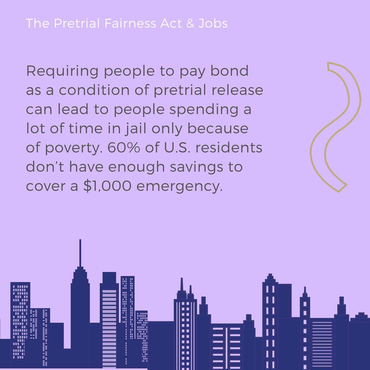 Just 72 hours in jail makes someone 2.5 times more likely to be unemployed one year later. Wealth-based pretrial incarceration is tearing our communities apart.  Illinois can have #PretrialFairnessNow by passing the Pretrial Fairness Act today! | #Twill
