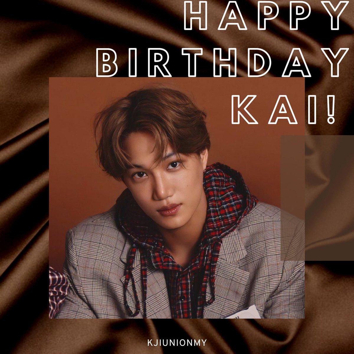 Happy Birthday to our dearest KAI 🥰🥳💛 Lets be happy forever 💛  #ArtistKaiDay #HappyKaiDay #종인아생일축하해 #가장_따뜻한_겨울_카이데이