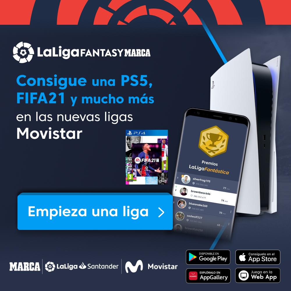 🎮⚽ ¿Quieres ganar una PS5 o el #FIFA21 de @EASportsESP?    ¡Empieza una de las nuevas ligas @movistar_es en @FantasyLaLiga y consigue alguno de estos increíbles premios!  📲   #HayQueVivirla