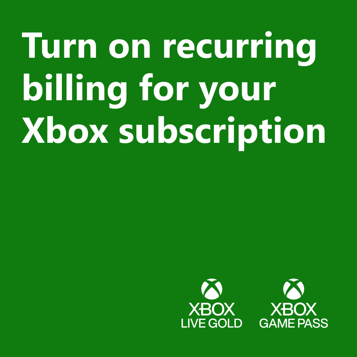 Last resolution: No more forgetting (or remembering!) payments 💳  Set up @XboxGamePass and all your other subs to renew automatically.