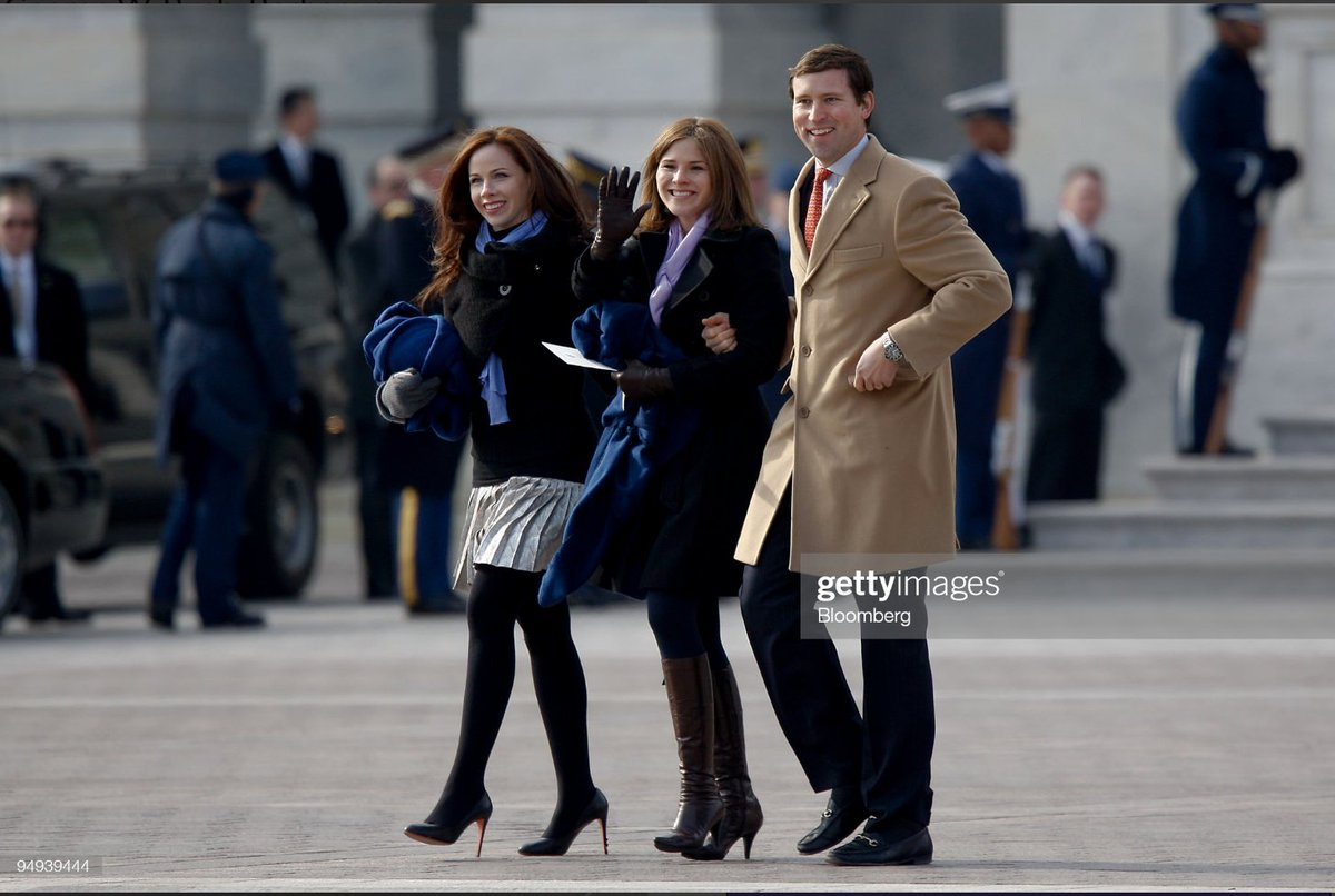 Jenna and Barbara Bush attended Obama's inauguration and Chelsea Clinton attended George W. Bush's so not really clear what precedent is being cited by the White House here.