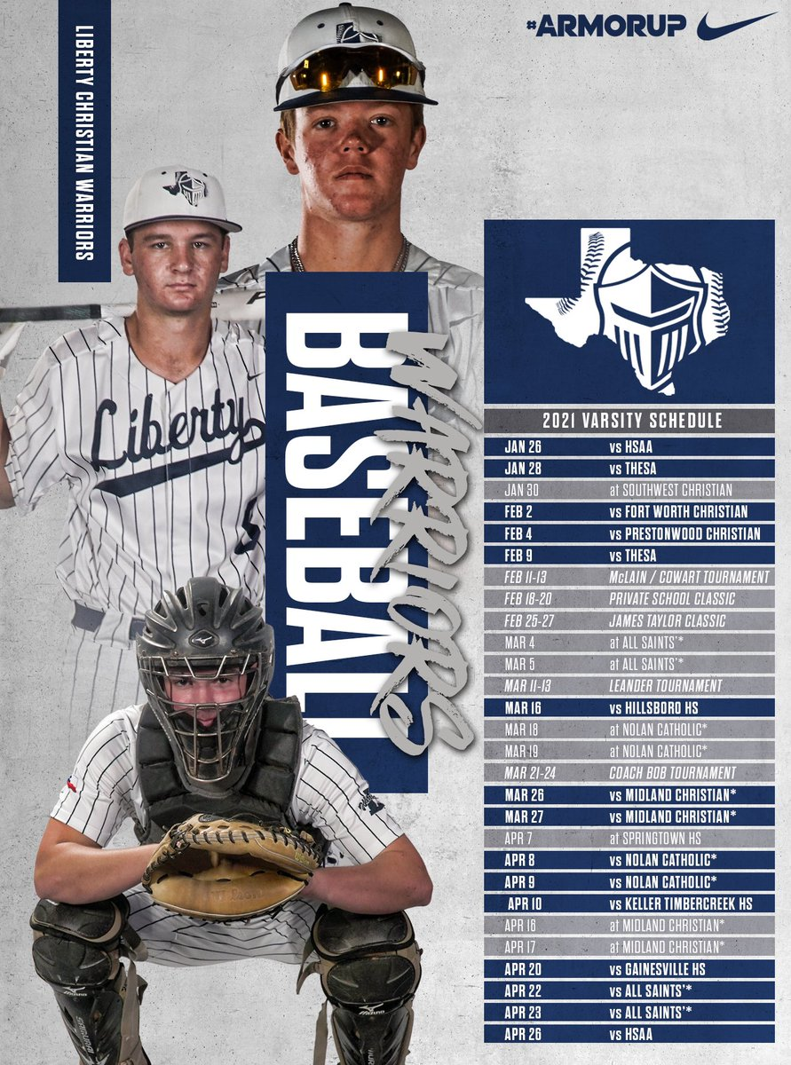 🚨Baseball Schedule🚨   It's just about time to get rolling, Warriors!! 👏  #FORHIM   #ARMORUP