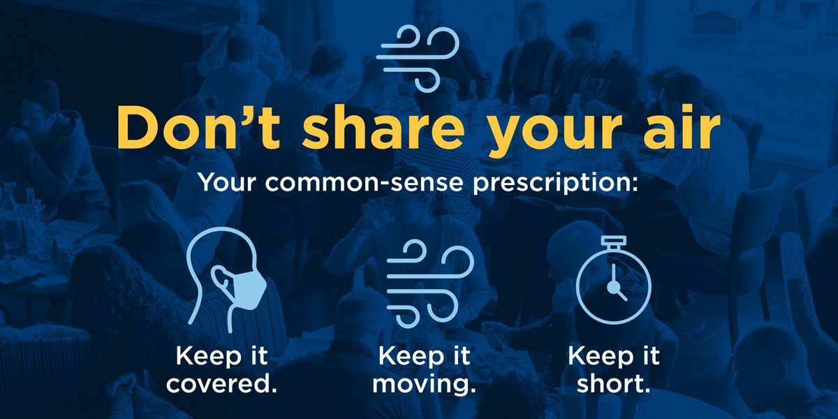 With COVID-19 cases surging, no one can let their guard down, and everyone has a role to play in stopping the spread. #DontShareYourAir https://t.co/vK9biOkI72 https://t.co/9QkSQx8CoF