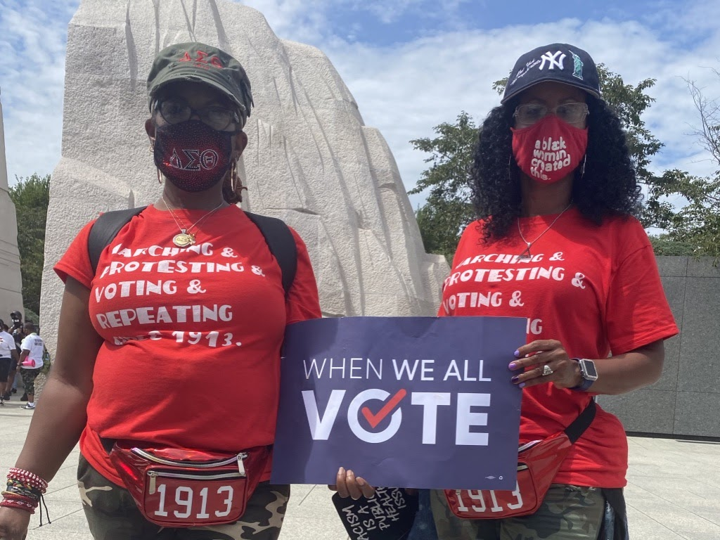 Happy Founders Day to the devastating divas of Delta Sigma Theta Sorority, Incorporated! @dstinc1913   They have stood 3,000 strong as Voting Squad Captains, and their impact was seen at the polls! 🔺🐘
