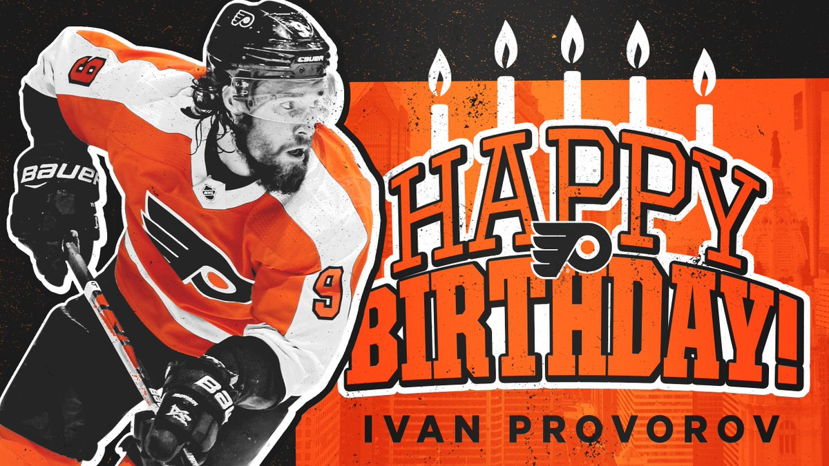 Replying to @NHLFlyers: 🎂 HBD, Provy! 🎂  We know Ivan is wishing for a birthday W.