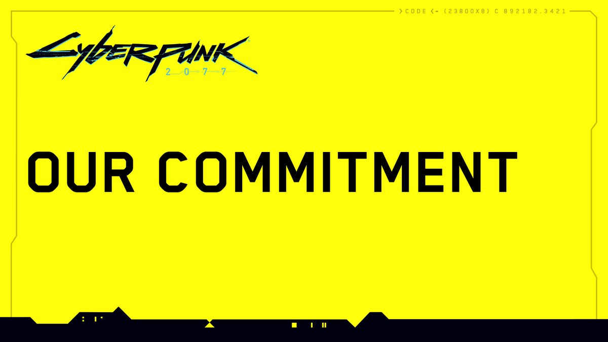 Dear gamers, Below, you'll find CD PROJEKT's co-founder's personal explanation of what the days leading up to the launch of Cyberpunk 2077 looked like, sharing the studio's perspective on what happened with the game on old-generation consoles. https://t.co/XjdCKizewq