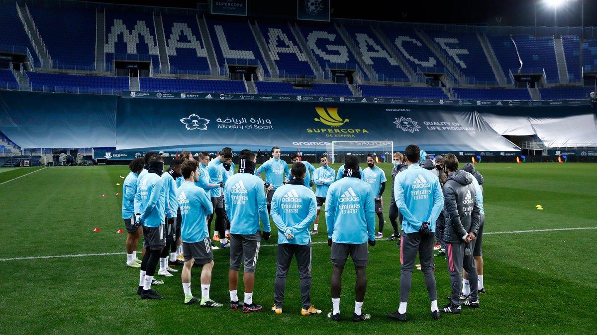 ¡💯% de concentración para la semifinal! 🔜⏳ @AthleticClub #HalaMadrid | #RMSuperCopa