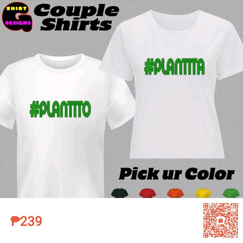 Check out G-Shirt Designs Plantito Plantita Couple Shirts for ₱239. Get it on Shopee now! #ShopeePH #plantito #plantita