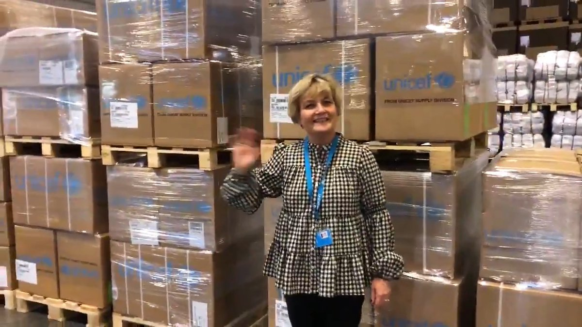 Fasten your seatbelts. We're taking you on a high-speed tour of the world's largest humanitarian warehouse – the @UNICEF Global Supply Hub in #Copenhagen.   Press play to see the 20,000 m2 warehouse in 20 seconds! ⏯️💺📦💙  #WarehouseWednesday
