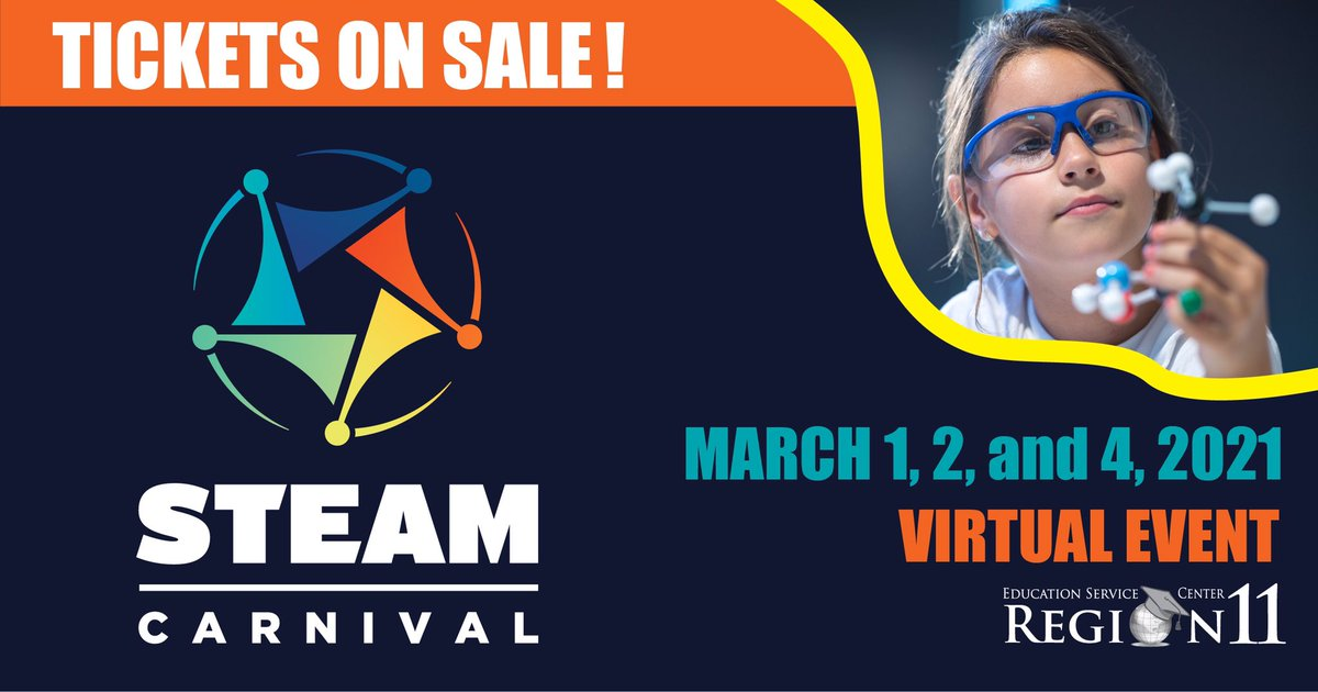 2021 Virtual STEAM Carnival tickets are now on sale! Choose your date here:eventbrite.com/e/2021-virtual…!