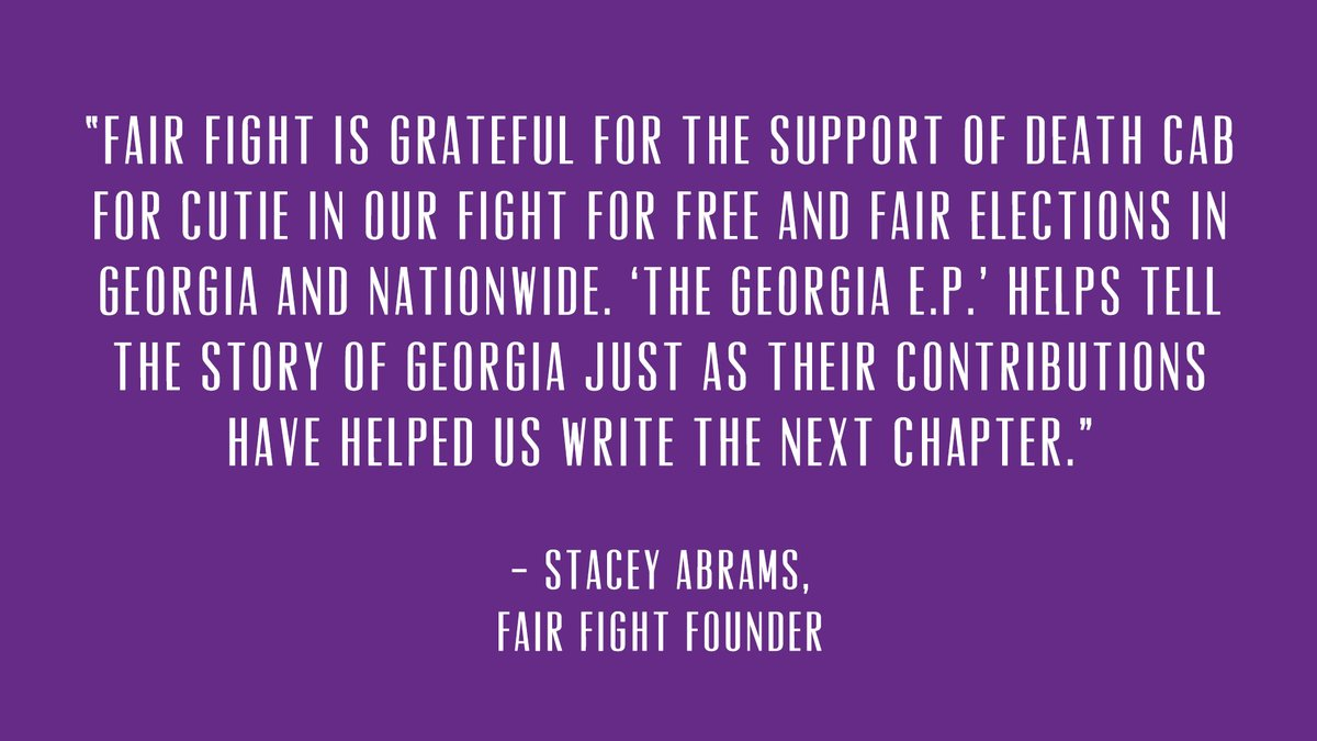 Replying to @dcfc: Thank you @staceyabrams and to all the hardworking people at @fairfightaction!