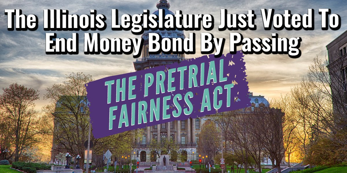 The Illinois house has just voted in support of the Pretrial Fairness Act! Our bill to #EndMoneyBail is being sent to @GovPritzker's desk!  This is only possible because of the incredible amount of work communities across the state have done to make this dream a reality.