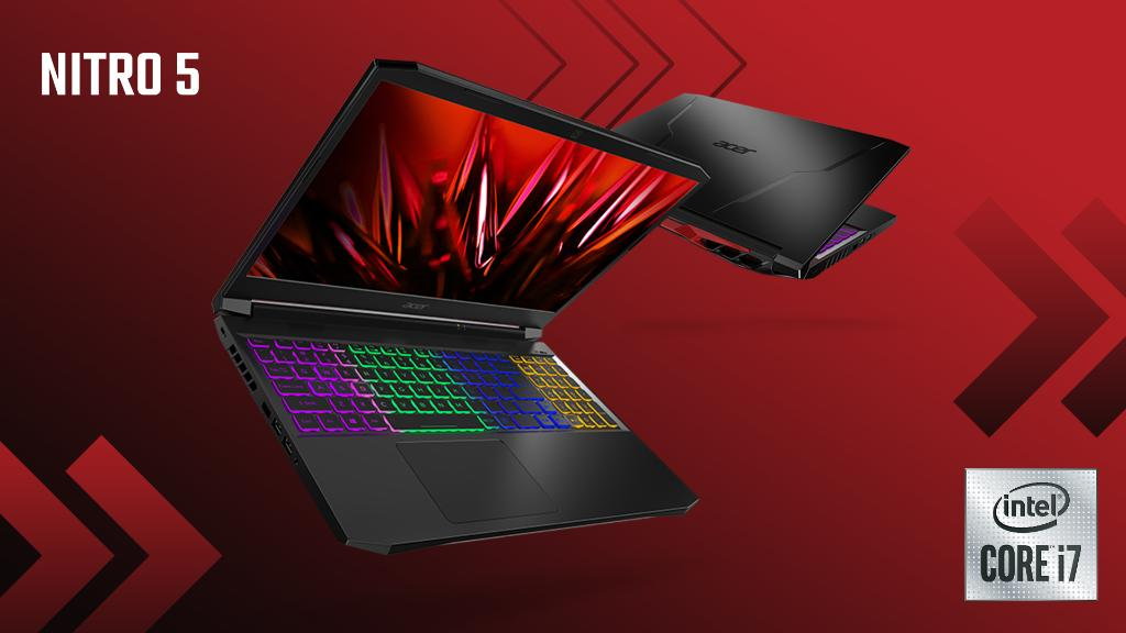 Unlock undiscovered realms of possibility with the #Nitro5, a #gaming notebook powered by:  💥 11th Gen @Intel® Core™ H35-series processors 🌈 @NVIDIAGeForce GTX GPU 🔋 Up to 32 GB of DDR4 RAM  Go to https://t.co/mHuNoNqEFW to learn more. #NextAtAcer https://t.co/yIu4AWmUh5