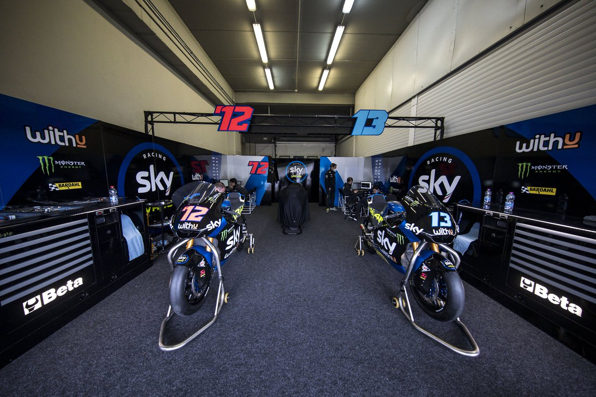 🎶 Empty spaces, that's what we're not living for!  The silence is still deafening in the paddock, but it's time to get used to this pair! 😎💪 #RideTo2021 #SkyRacingTeamVR46 https://t.co/vL9ZLS4pm3