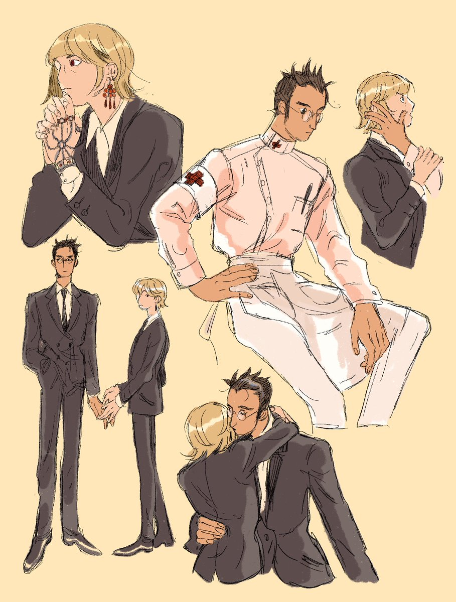 I've deleted the side acc where most of my HxH art was but I still like these leopikas so you can have them ! My treat