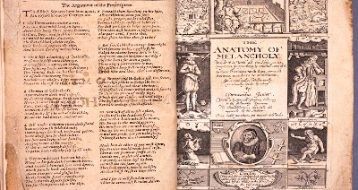 The blues across four centuries - @IES_London research fellow Dr Karen Attar delves into a major self-help book on depression first published in 1621, Robert Burton's 'The Anatomy of Melancholy' (in @UoLondons @SenateHouseLib)