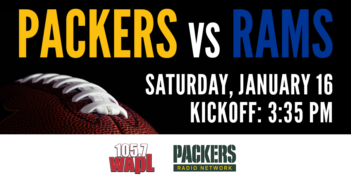 Listen LIVE NOW on your radio dial! #1057WAPL #WAPL @packers #GoPackGo   **Broadcast signal only**