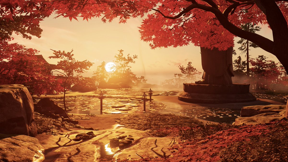 Golden Hour 🧡  Game: #GhostOfTsushima  Developer: @SuckerPunchProd   #VirtualPhotography  #VGPWednesday #VGPUnite #WallpaperWednesday #PS4share