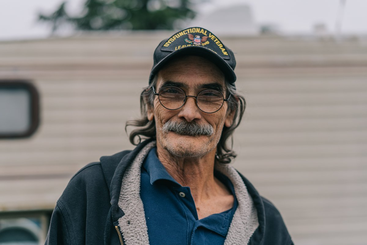 """I have a little bug called lung cancer. I come to this veteran's center for the company, and to volunteer because it gives me purpose. It's hard to get here because I don't feel good almost every day, but it's worth it."" -Jim  Help veterans in need:"