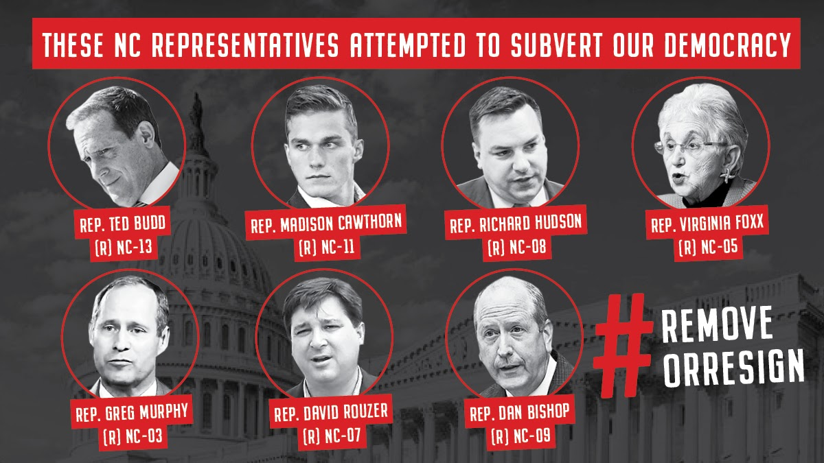 If we care about saving our democracy, the NC GOP legislators that were complicit in the events of 1/6 must be held accountable. No unity without accountability. #RemoveOrResign
