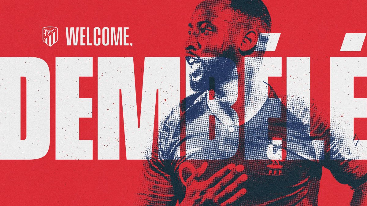 🔴⚪ #WelcomeDembélé  Agreement with Olympique Lyonnais over the loan of@MDembele_10 until the end of the season.  ℹ️   🏧 #AúpaAtleti