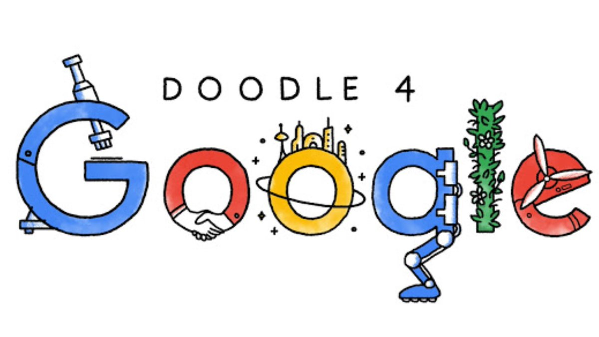 """#DoodleForGoogle is back for another year, and this time around, this year's theme is """"I am strong because..."""" and they invite you to tell them how you're uniquely strong, inside and out. So, if you're in grades, K—12 grab your art supplies and visit ."""