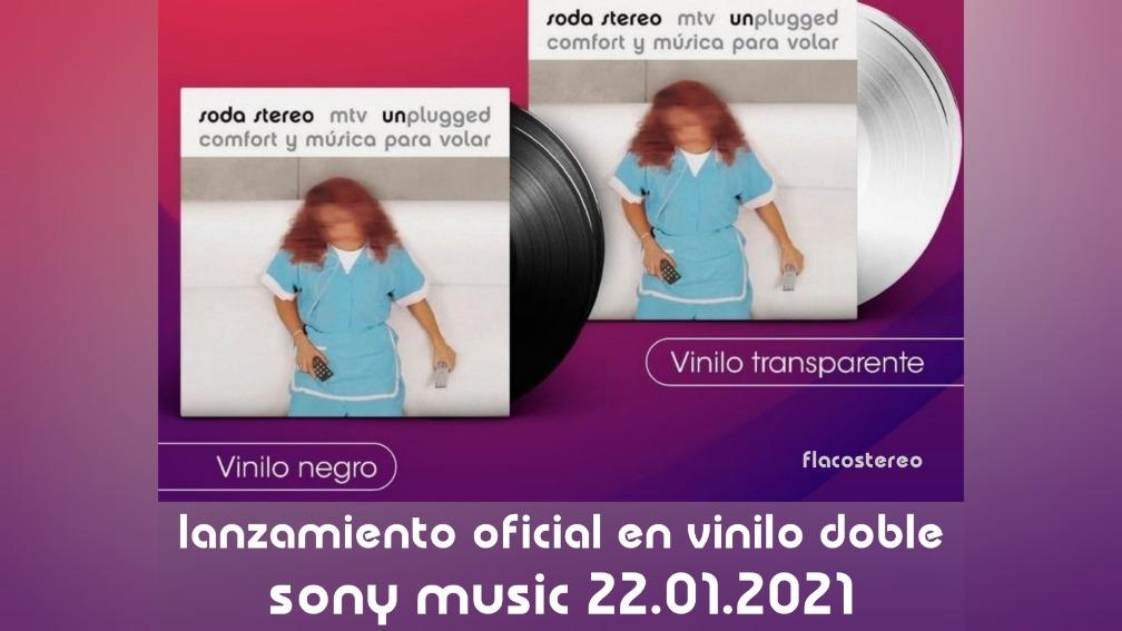 """FlacoStereo on Twitter: """"Cómo te anunciamos el año pasado, el 22.01.21 sale  """"Comfort y Música Para Volar: MTV (Un)plugged"""" de Soda Stereo en VINILO  oficial: •Edición limitada: 2LPs Transparentes •Edición común: 2LPs"""