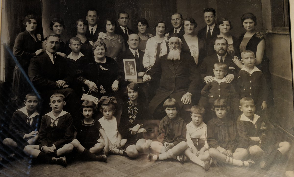 I think about this photograph ALL THE TIME these days. Of the 31 people pictured here, two died before the holocaust began and only three escaped. Twenty six people shown in this photograph died in Camp Auschwitz. Let me introduce you to my Camp Auschwitz alumni family.