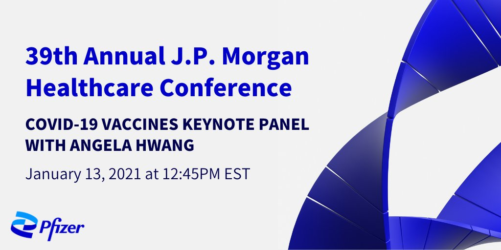 Angela Hwang, our Group President, Biopharmaceuticals, shares updates on our #COVID19 vaccine during this year's 39th Annual @jpmorgan Healthcare Conference. https://t.co/rlyLlPs1Z8  Check out this 🧵 to hear more from Angela. #JPM2021 https://t.co/ACW8YCxrac