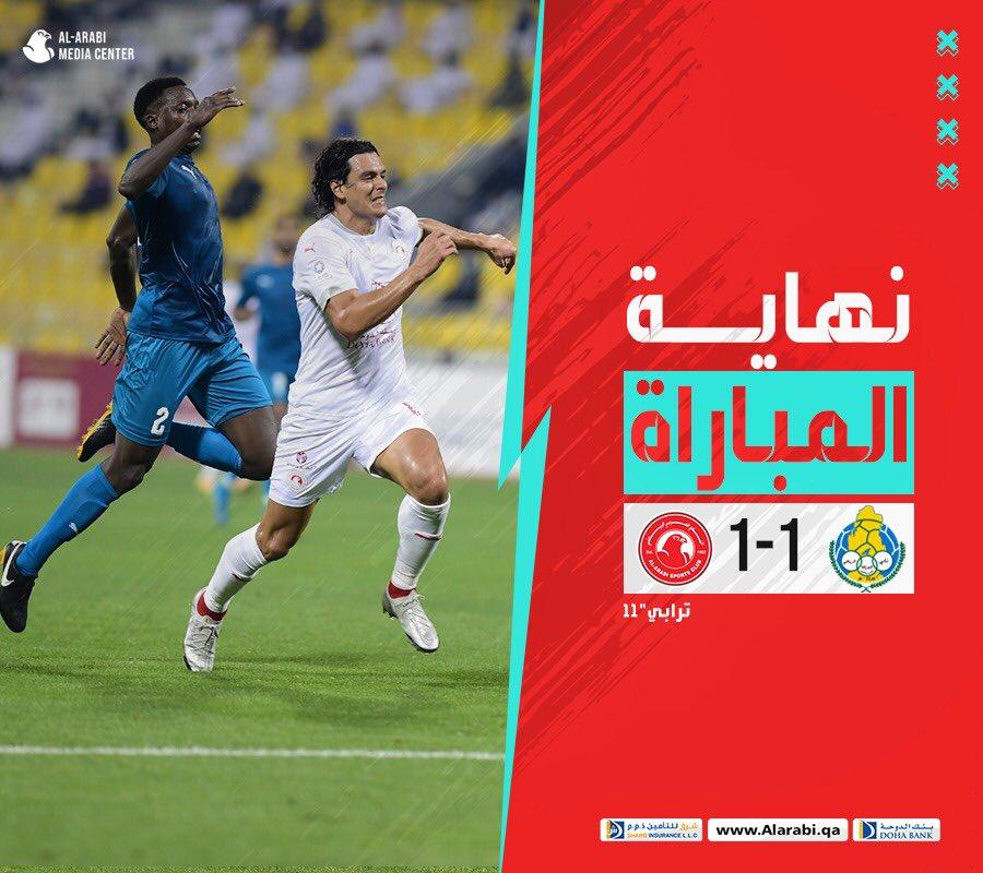 نهاية المباراة   #الغرافة   1-1   #العربي   الأسبوع 14   #دوري_نجوم_QNB 🏆