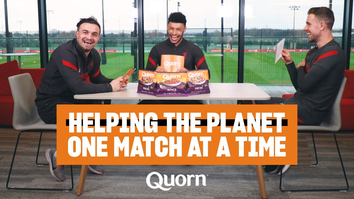 Helping the planet one match at a time 🌍  @JHenderson, @Alex_OxChambo and @XS_11official explain more...   #MeatFreeMatchdays | @QuornFoods