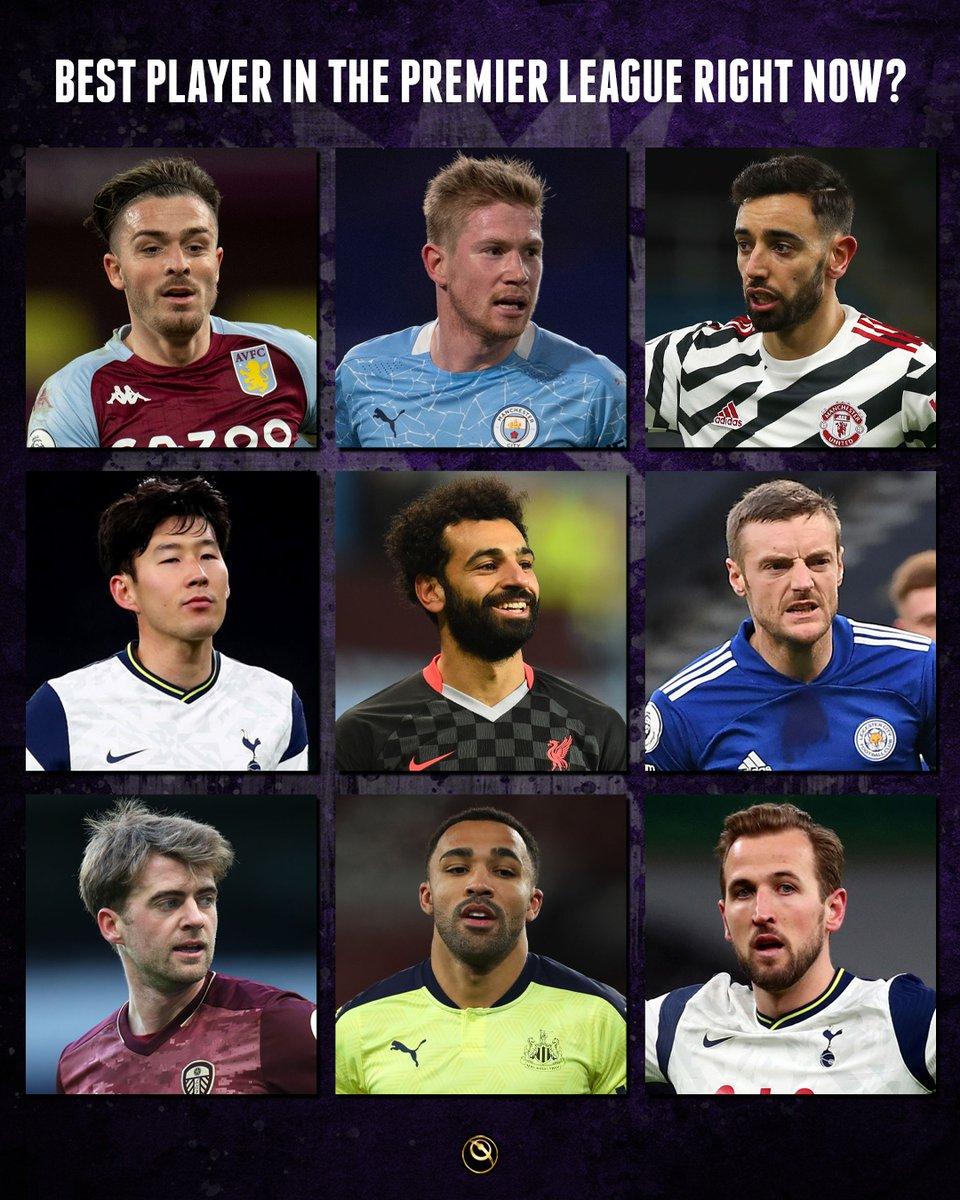 ☝️ Who's the best Premier League player right now: Grealish, De Bruyne, Fernandes, Son Heung Min, Salah, Vardy, Bamford, Callum Wilson or Harry Kane?