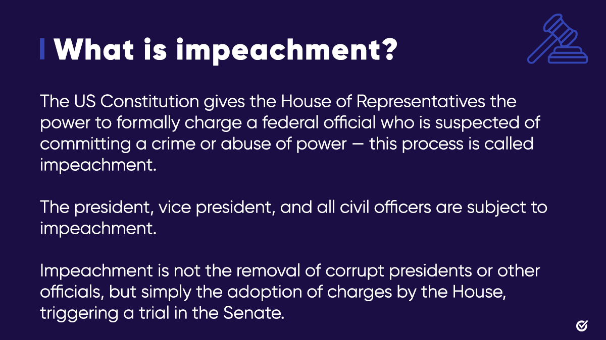 🧵(1/4): Today, the House of Representatives is voting on articles of impeachment against President Donald Trump.   We're breaking down the impeachment process and how this will impact our nation.