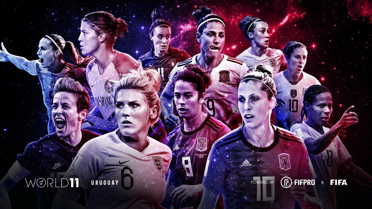 🌟Este fue #World11 2020 femenino que votaron futbolistas uruguayos a través de @FIFPro.  #AhoraMásQueNunca