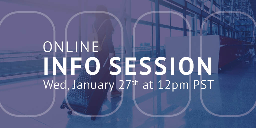 Join us at our first #InfoSession of 2021 on Jan 27th at 12pm PST!   🌍 Learn how to get started at CTC as soon as THIS spring!  🌎 Get more information on the admissions process. 🌏 Discover more about our #tourism programs and career paths.  Register: