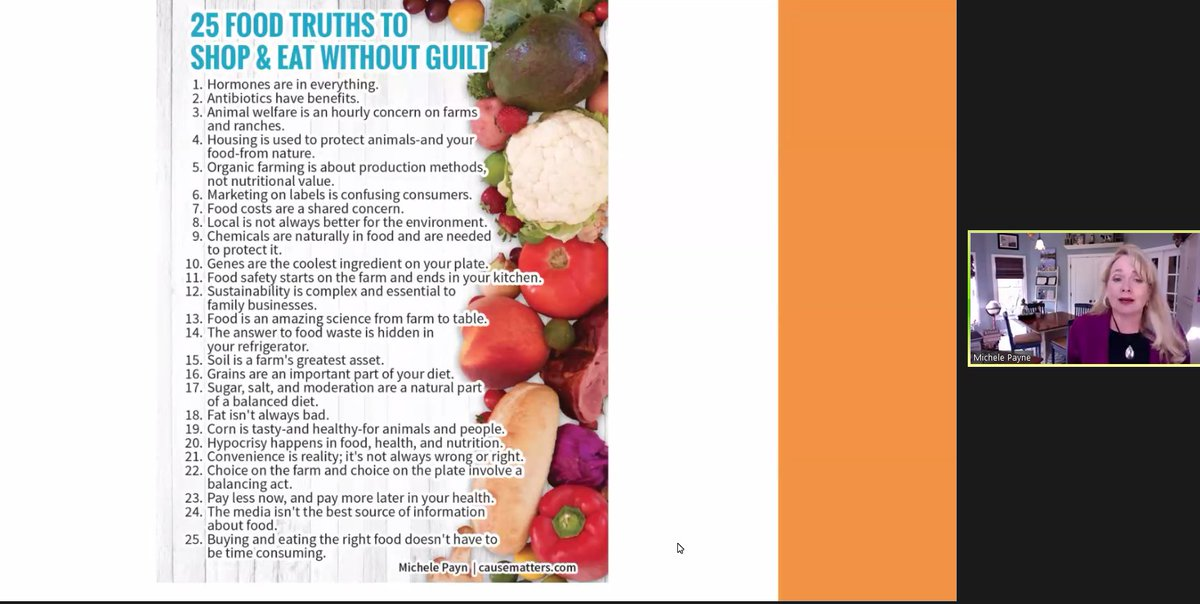 #MichellePayn - food truths
